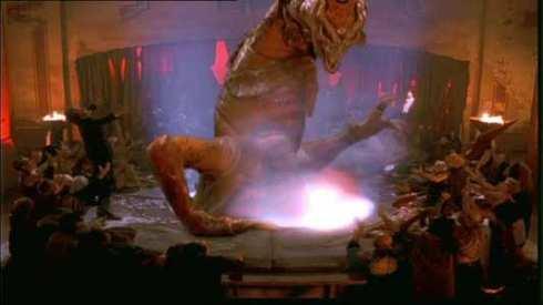 Candyfloss Mephistopheles's laser beast goes postal.